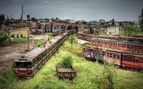 Abandoned train yard