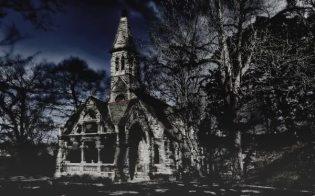 Haunted graveyard chapel