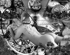 TimeCity-Black-White-Digital-Photo-Art-by-Brooklyn-Hurst